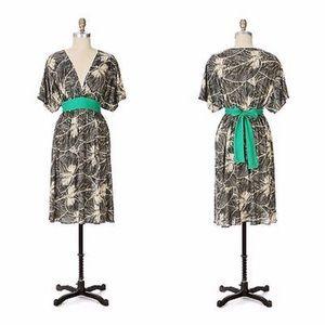 Anthropologie Maple Silk Kimono Clockwork Dress